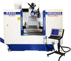 A560 5-Axis CNC Articulating-Head Porting Machine