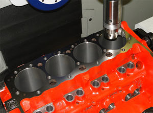CNC engine block cylinder boring